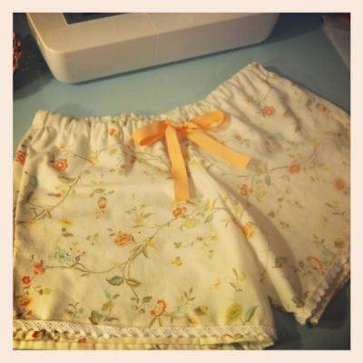 Vintage Sheet Sleep Shorts