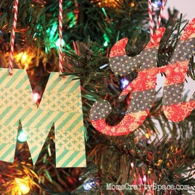 DIY Washi Tape Monogram Ornaments
