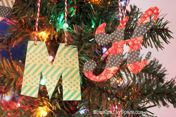 Washi Tape Monogram Ornament
