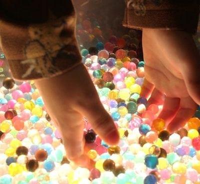 Sensory Play Time: Water Beads & Light