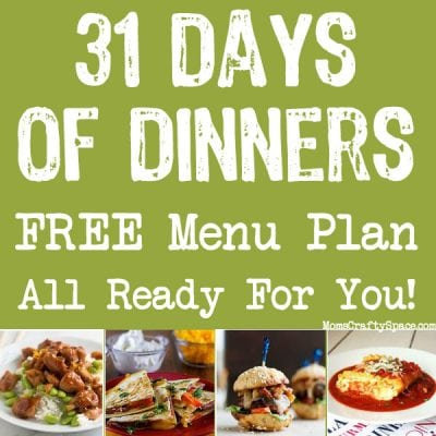 31 Days of Dinners: Menu Plan