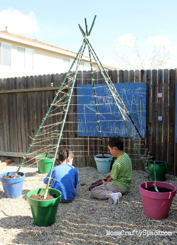 How To Build A Green Bean Tepee Happiness Is Homemade