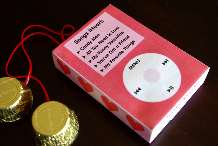 Printable Valentine IPod Candy Wrapper Happiness Is