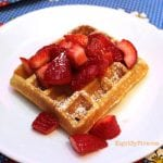 Strawberry Shortcake Dessert Waffles