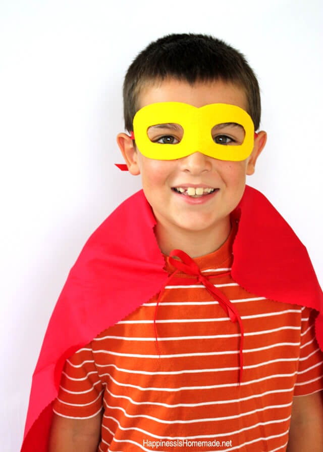 Easy Kids Superhero Costume