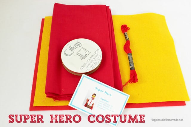 Easy Super Hero Costume Supplies