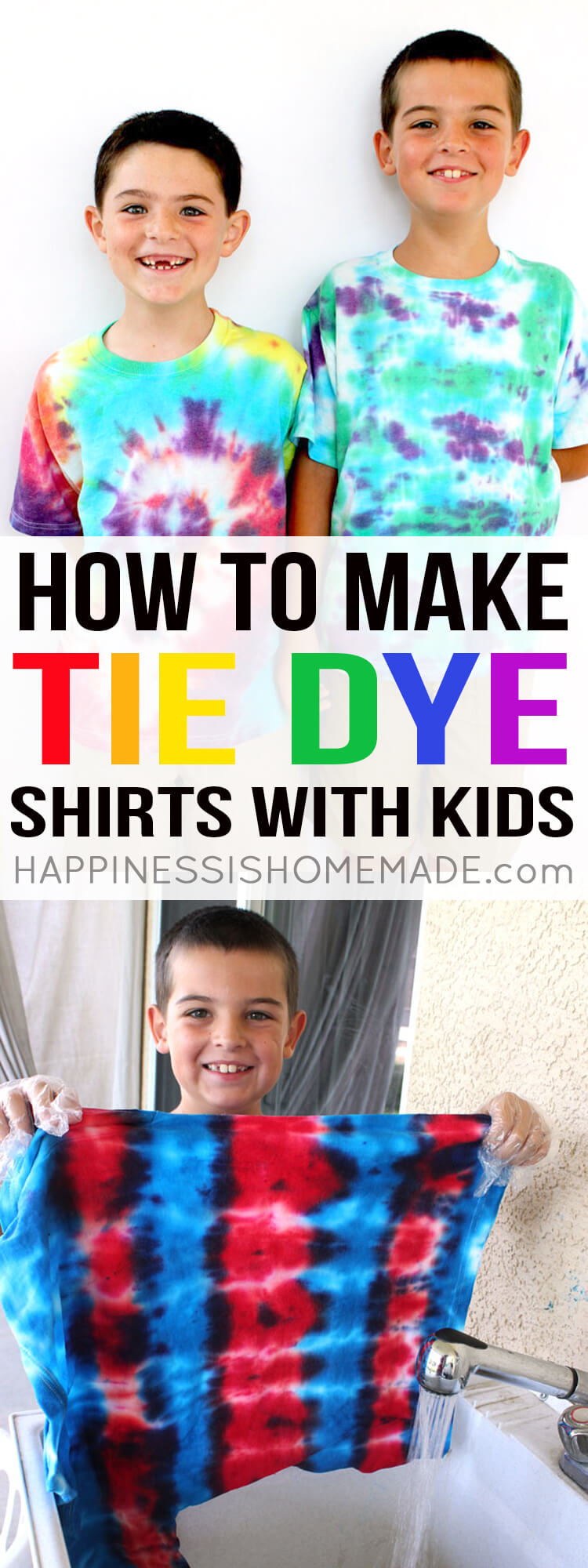 How To Tie Dye Shirts With Kids Hiness Is Homemade