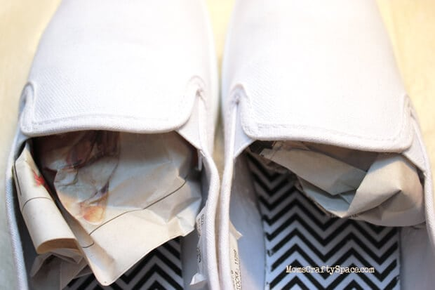Newspaper Stuffed Shoes
