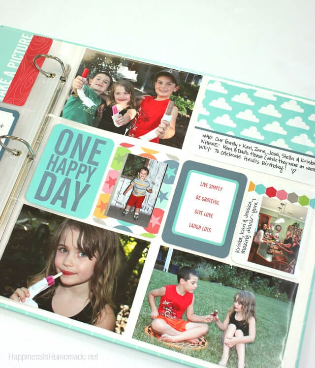 Project Life Honey Layout Page