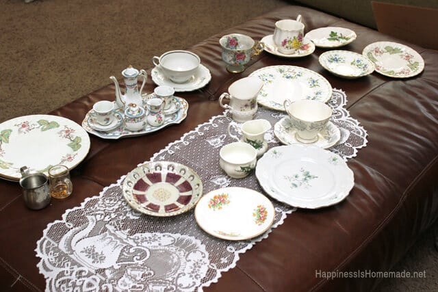 Tea Cups Plates and Saucers