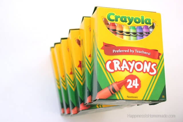 recycled crayons back to school with crayola 25 visa giveaway