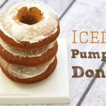 Iced Pumpkin Cake Donuts