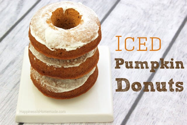Cream Cheese Frosted Pumpkin Cake Donuts