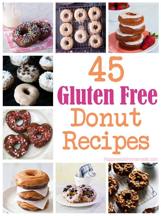 45 Gluten Free Donut Recipes from HappinessIsHomemade.com