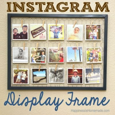 Easy Instagram Photo Display Frame