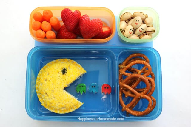 PacMan Bento Lunch With Rubbermaid LunchBlox
