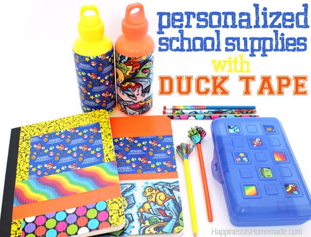 Personalized School Supplies With Duck Tape