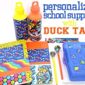 PersonalizedSchoolSuppliesWithDuckTape