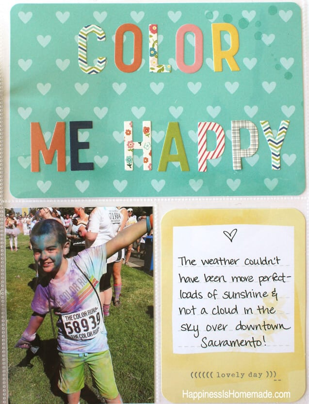 Project Life Dear Lizzy Fifth and Frolic Page Layout 4