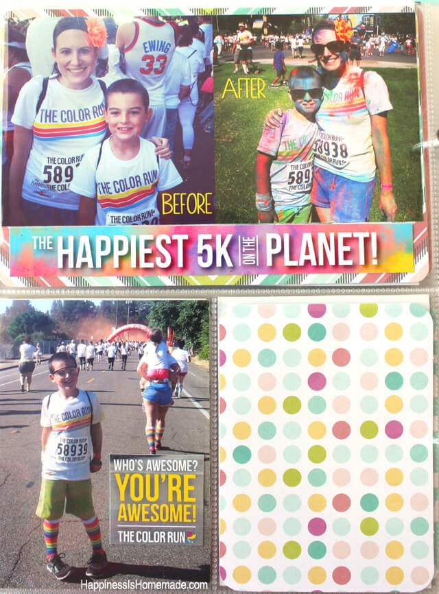 Project Life Dear Lizzy Fifth and Frolic Page Layout 5