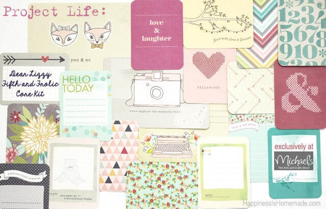 Project Life Michaels Exclusive Dear Lizzy Fifth and Frolic Core Kit 2