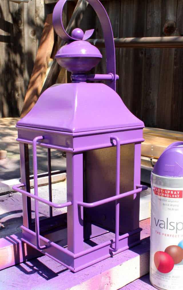 Spray Painted Porch Light Planter