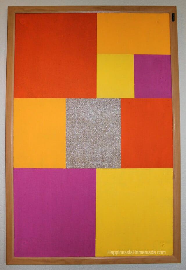Color Blocked Bulletin Board