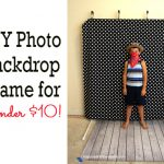 DIY Photo Backdrop Frame for Under 10 Dollars