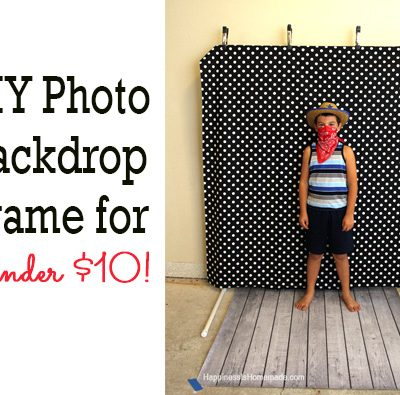 DIY Photo Booth Backdrop Frame – for around $10!
