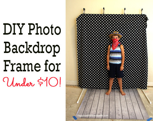 Diy photo booth backdrop frame for around 10 happiness is homemade solutioingenieria Choice Image
