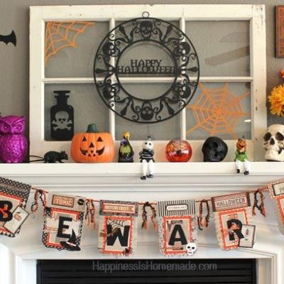 Halloween Banner & Mantel