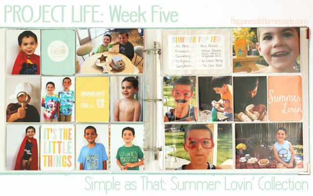 Project Life Summer Lovin Cards Layout