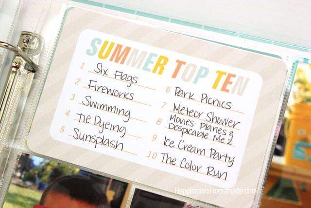 Summer Lovin Project Life Cards from Simple as That 4