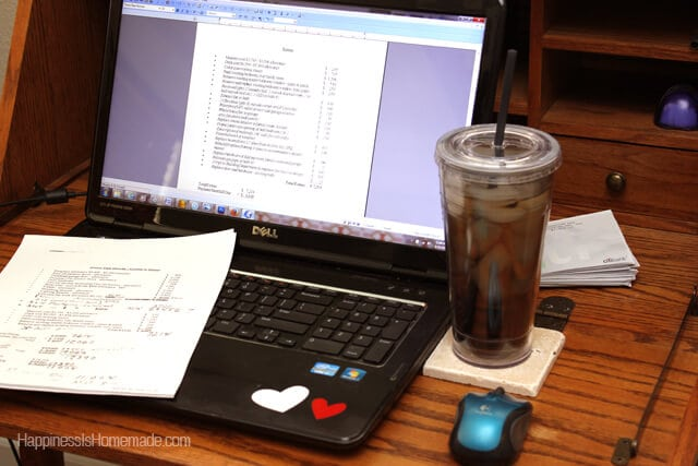 Working and Sipping Bigelow Iced Tea