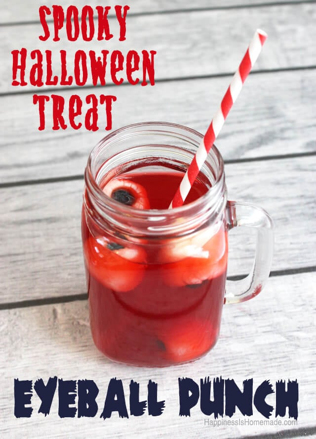 Bloody Eyeball Halloween Punch Drink #SpookyCelebration #shop