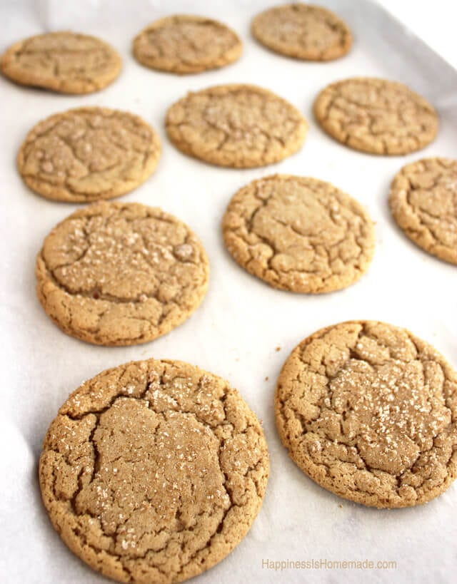 Brown Butter & Maple Brown Sugar Cookies - Happiness is ...