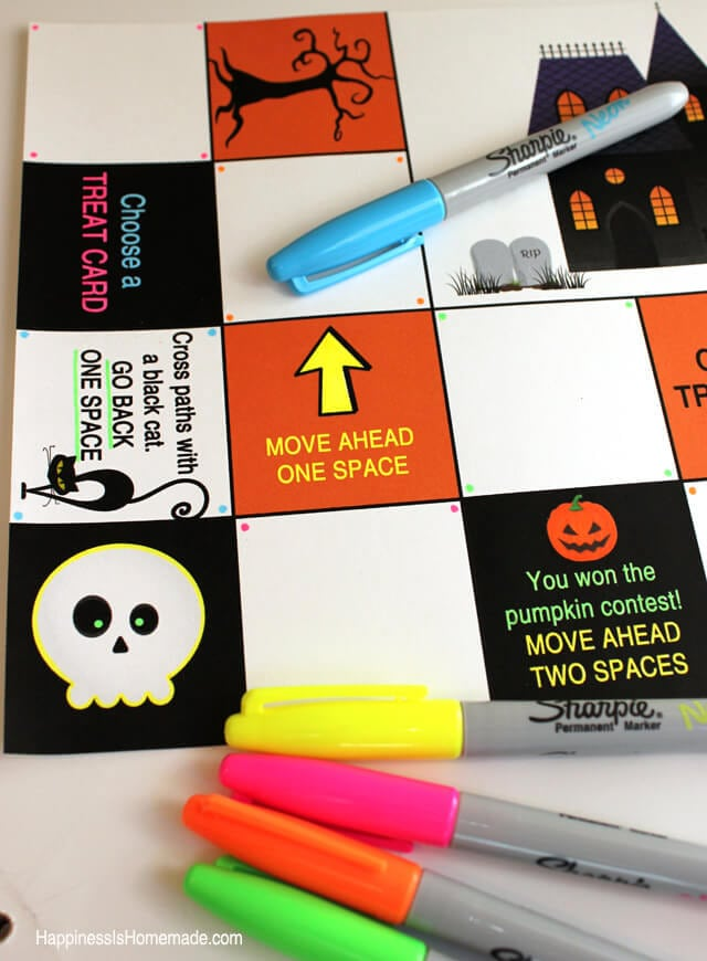 Decorating a Board Game With Neon Sharpies