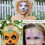 DIY Halloween Face Painting Templates