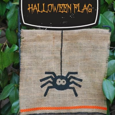No-Sew Halloween Flag