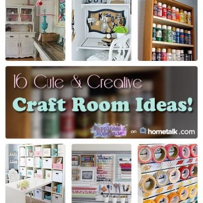 16 Cute & Creative Craft Room Ideas