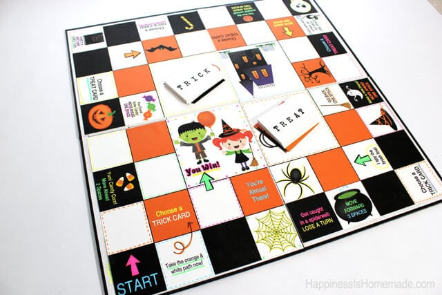 Homemade Halloween Board Game