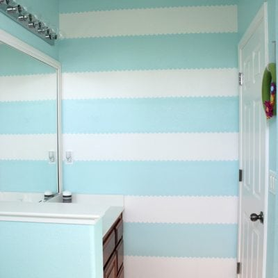 How to Easily Paint a Scalloped Stripe Accent Wall