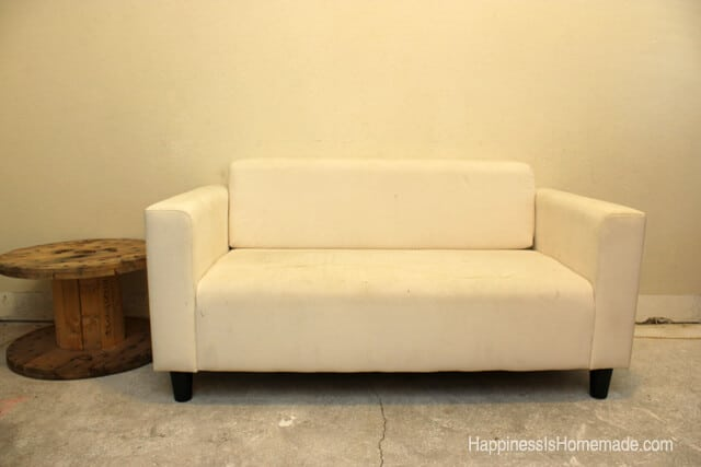 Attractive Ikea Sofa Before Painting