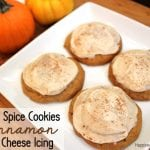 Pumpkin Spice Cookies with Cinnamon Cream Cheese Icing