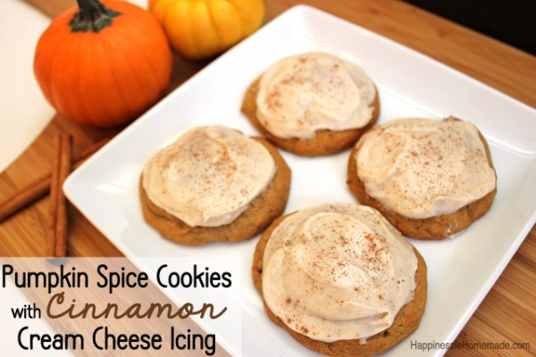 Pumpkin Spice Cookies with Cinnamon Cream Cheese Frosting #FreshFinds ...