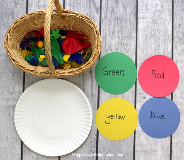 Simple Preschool Color Sorting Educational Activity