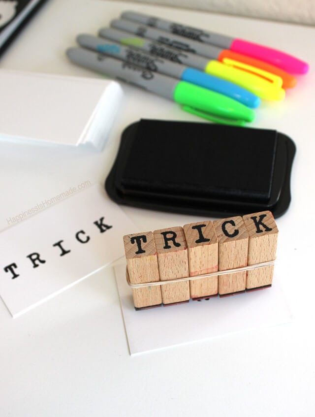 Trick for Stamping Words With Alphabet Letter Stamps