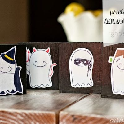 Printable Halloween Ghosts by Carissa Miss