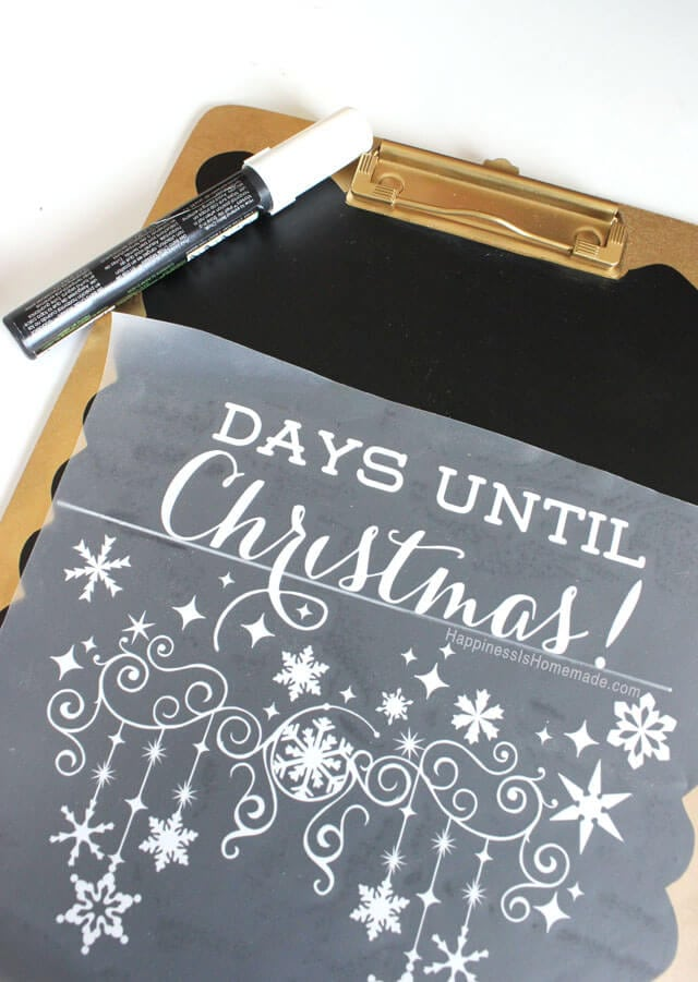 Days Till Christmas Chalkboard.Christmas Countdown Chalkboard Happiness Is Homemade