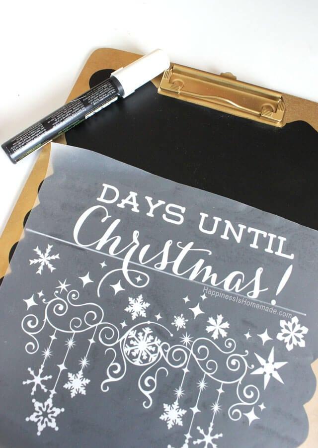 Christmas Countdown Chalkboard Happiness Is Homemade